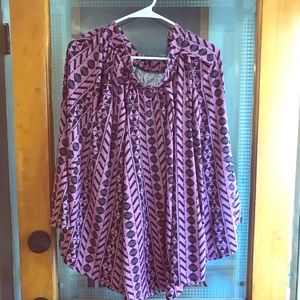 Lularoe Madison Skirt purple black geometric l